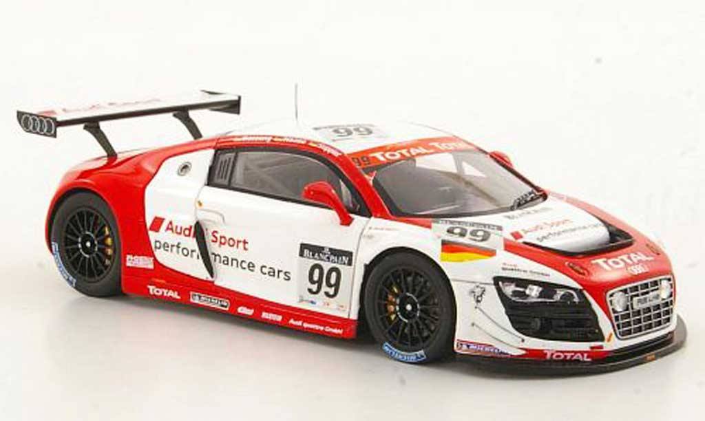 Audi R8 LMS 1/43 Spark No.99 Sport Performance Cars Basseng / Haase / Stippler 24h Spa 2011 modellino in miniatura