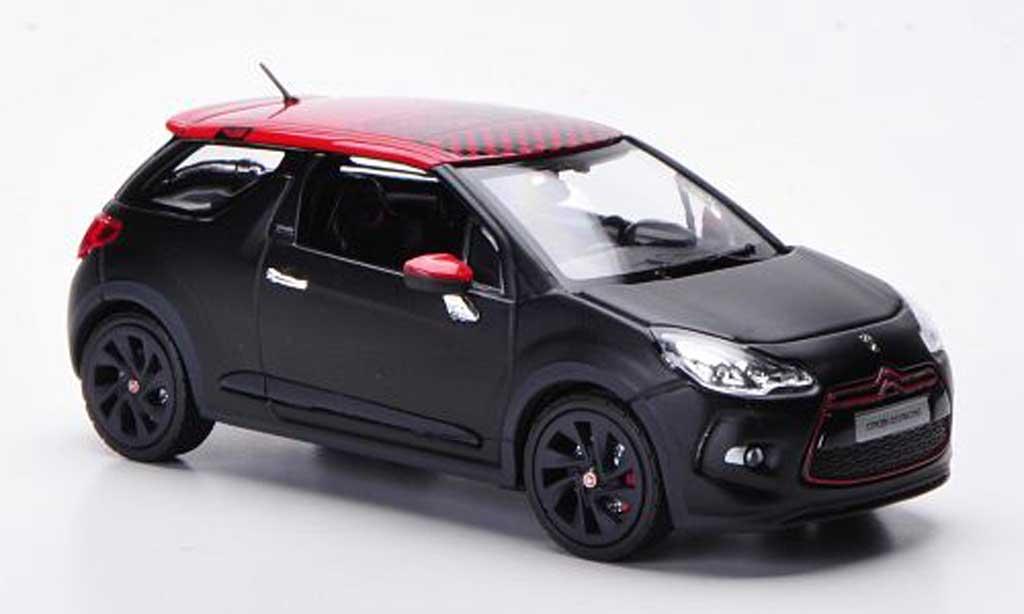 DS Automobiles DS3 Racing 1/43 Norev Racing Racing matt noire/rouge 2012 miniature