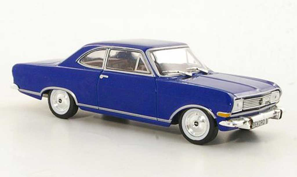 Opel Rekord 1/43 Hachette B Coupe bleu (ohne Magazin) 1965 miniature