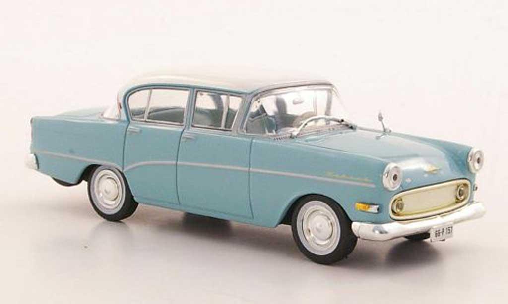 Opel Rekord 1/43 WhiteBox P1 bleu/blanche miniature