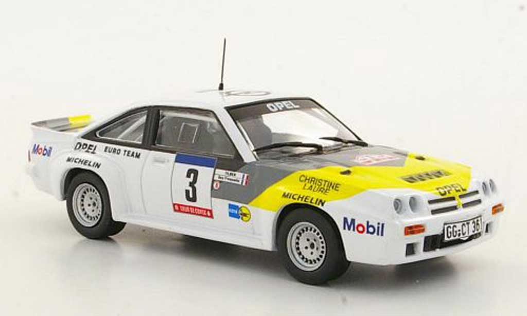 Opel Manta B 1/43 Hachette 400 No.3 Rally Korsik(ohne Magazin) miniature