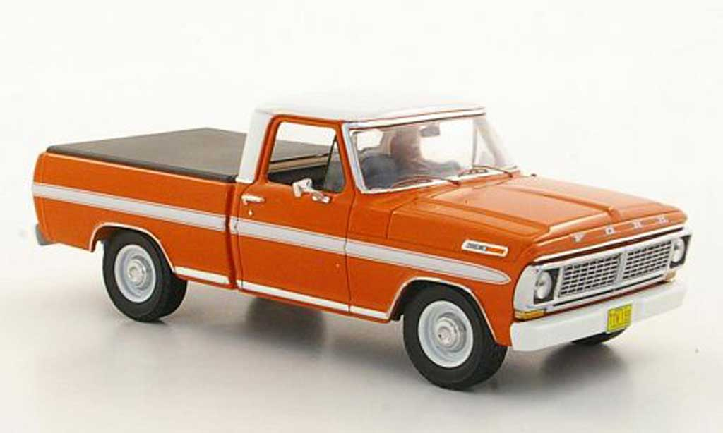 Ford F 100 1/43 Premium X orange/blanche avec Laderaumabdeckung 1978 miniature