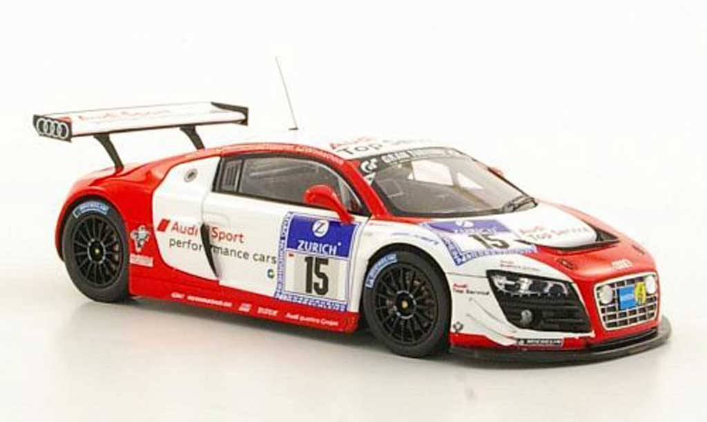 Audi R8 LMS 1/43 Spark No.15 Sport Haase / Hennerici / Stippler / Winkelhock ADAC 24h Nurburgring 2011 miniature