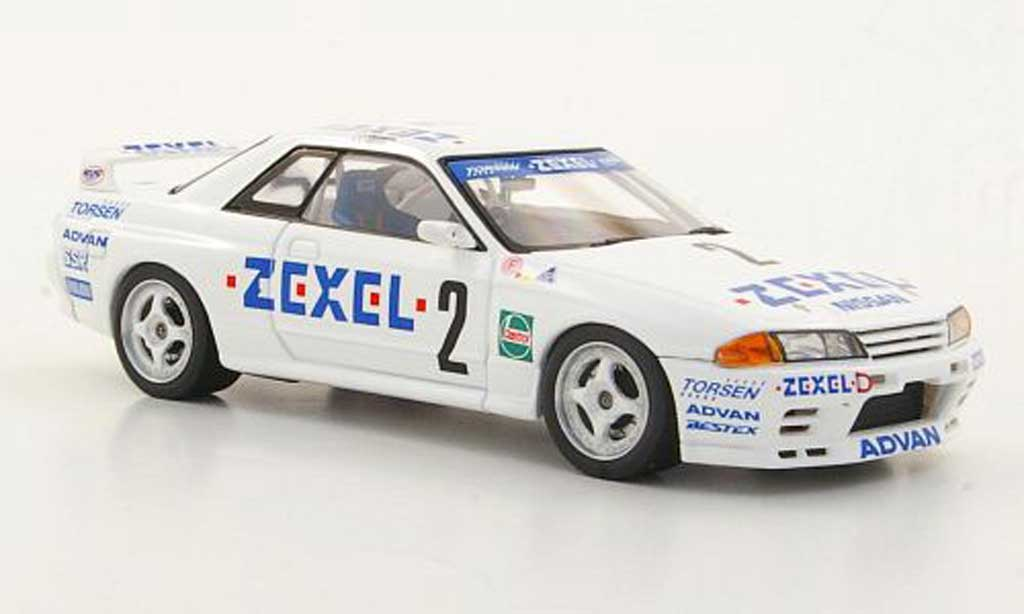 Nissan Skyline R32 1/43 HPI GT-R No.2 Zexel T.Kinoshita / E.Yamada N1 1992 modellino in miniatura