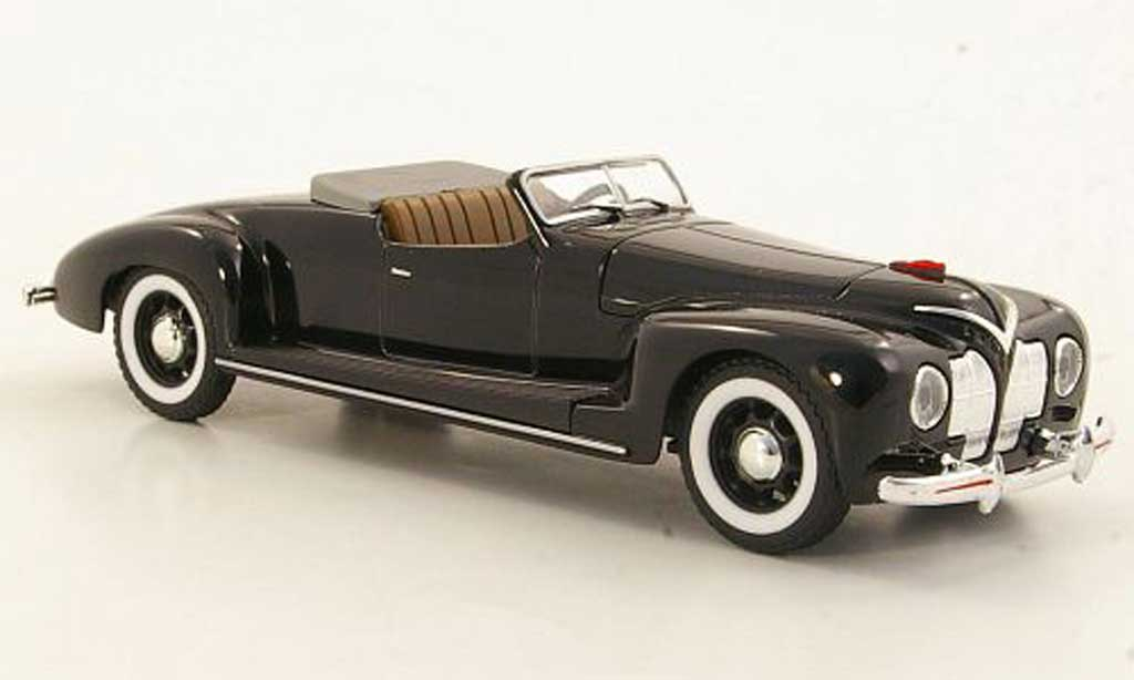 Zis 101 1/43 Nash Avtoprom A Sport noire geoffnetes Verdeck miniature