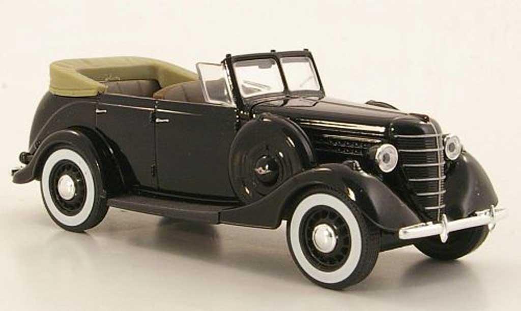Gaz 11-40 1/43 Nash Avtoprom noire geoffnetes Verdeck miniature