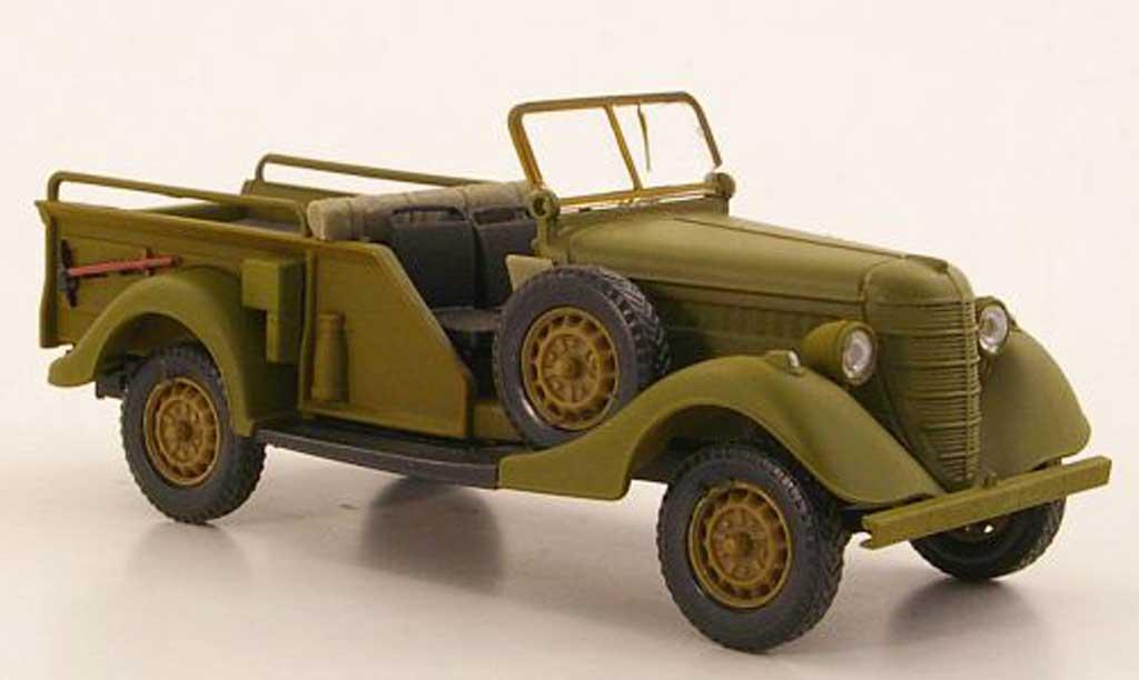Gaz 61-417 1/43 Nash Avtoprom mattgrun geoffnetes Verdeck miniature