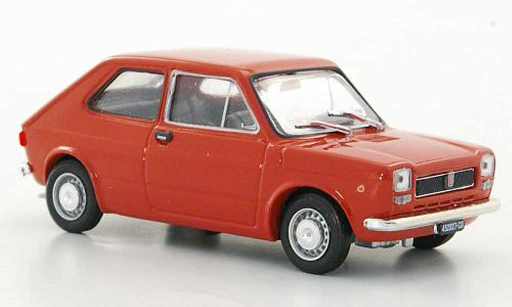 Fiat 127 1/43 Brumm marron rouge 1971 miniature