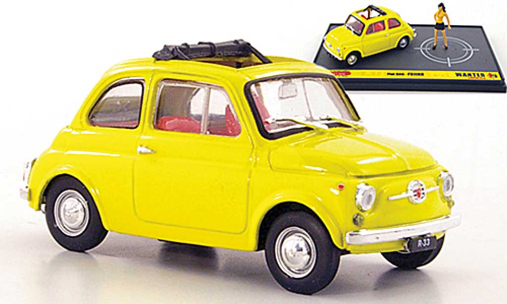 Fiat 500 1/43 Brumm yellow Fujiko ''Wante- Lupin the 3rd'' diecast model cars