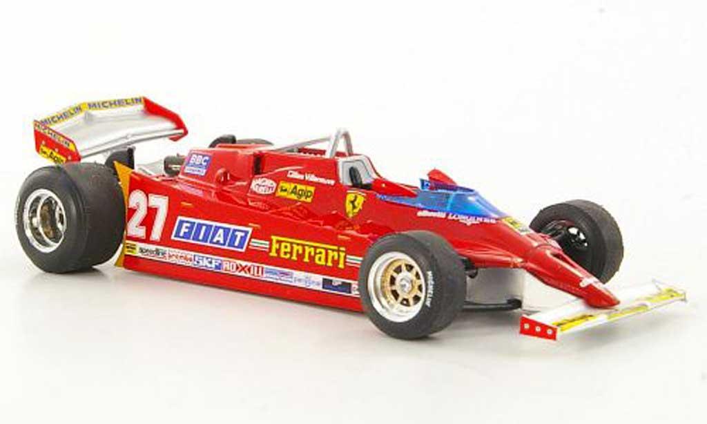 Ferrari 126 1981 1/43 Brumm CK Comprex No.27 G.Villeneuve GP USA West Trainingsfahrzeug miniature