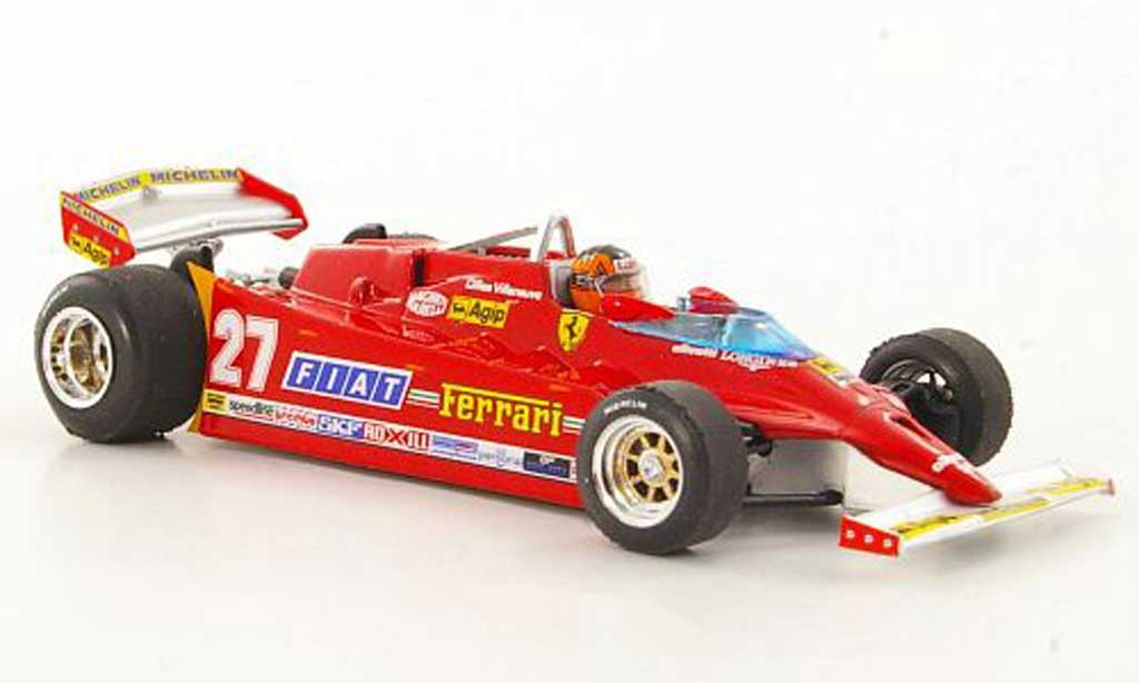 Ferrari 126 1981 ck turbo no 27 g villeneuve gp usa west brumm 1 43