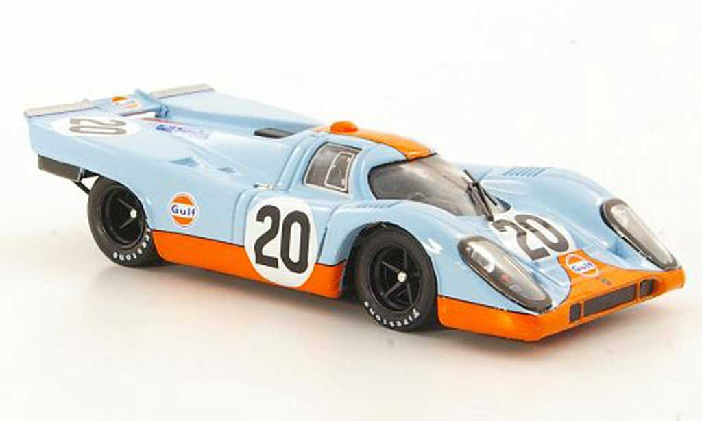 Porsche 917 1970 1/43 Brumm No.20 JWA-Gulf Racing Team Siffert / Redman 24h Le Mans miniature