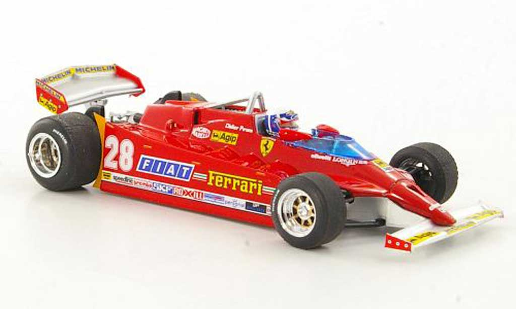 Ferrari 126 1981 1/43 Brumm CK Turbo No.28 D.Pironi GP USA West diecast model cars