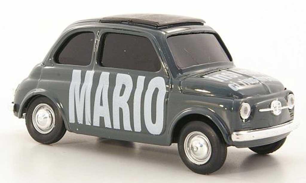 Fiat 500 1/43 Brumm 'Mario - insieme ci riusciremo'' diecast model cars