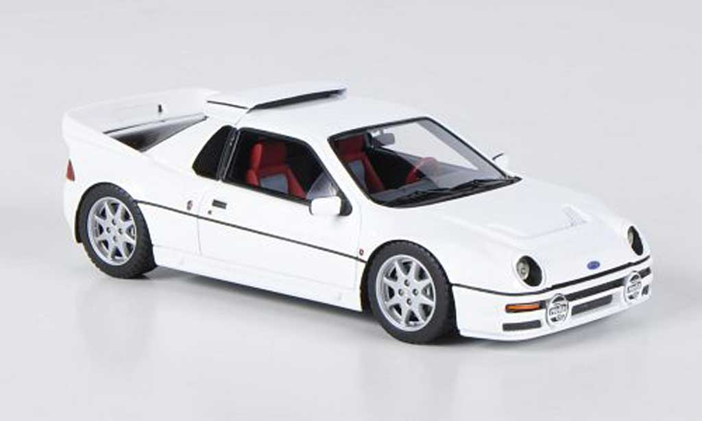 Ford RS 200 1/43 HPI blanche LHD miniature