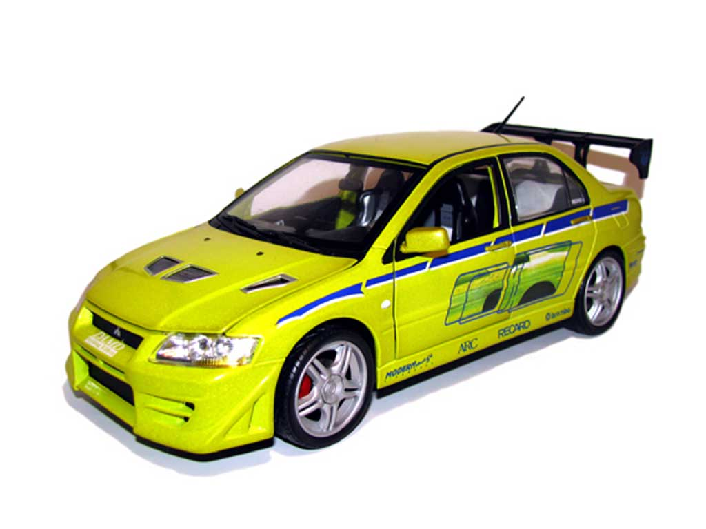 Mitsubishi Lancer Evolution VII Fast and furious Ertl. Mitsubishi Lancer Evolution VII Fast and furious Fast and Furious miniature 1/18