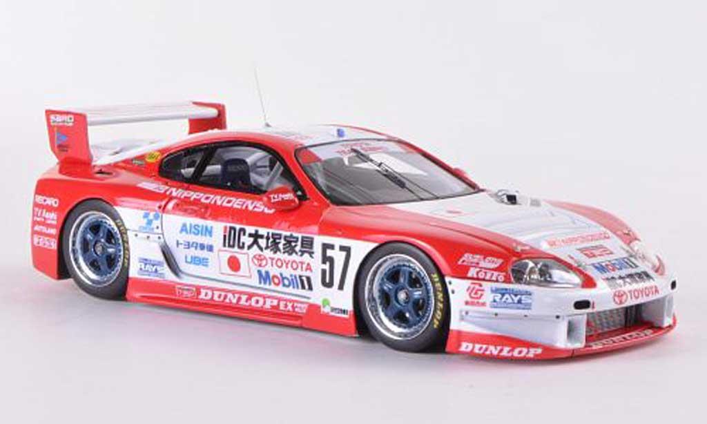 Toyota Supra GT LM 1/43 HPI Mirage No.57 Team SARD M.Sekiya / M.Kageyama / H.Mitsusada 24h Le Mans  1996 miniature