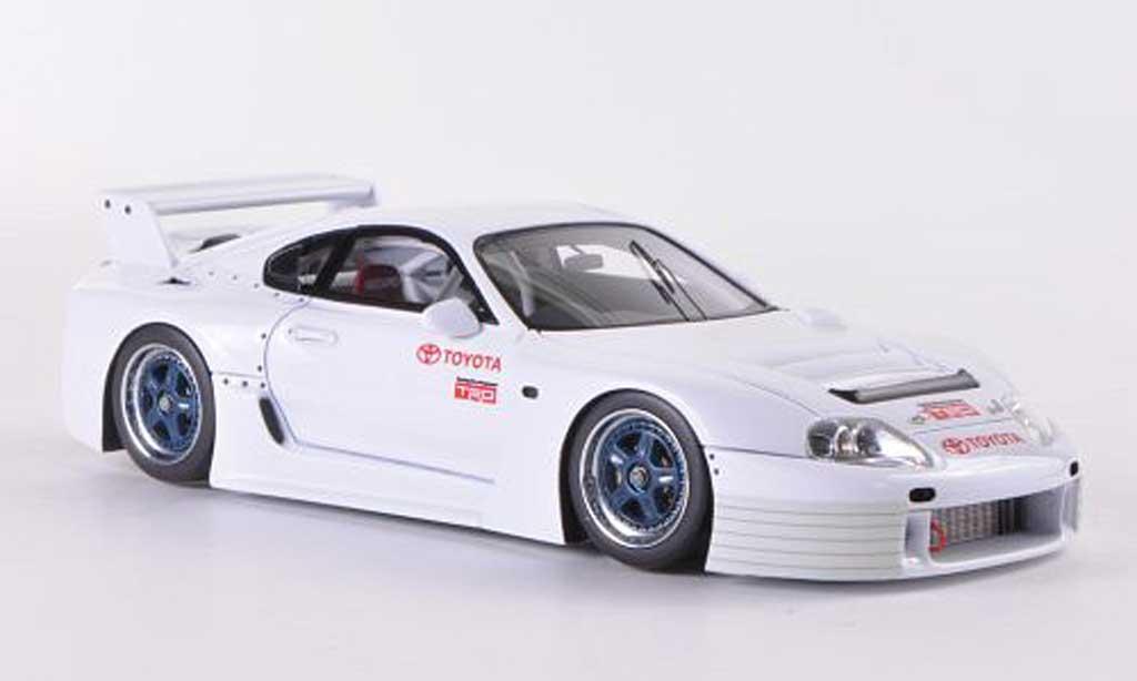 Toyota Supra GT LM 1/43 HPI Mirage GT LM blanche N.Nagasaka Testfahrzeug Fuji  1996 miniature