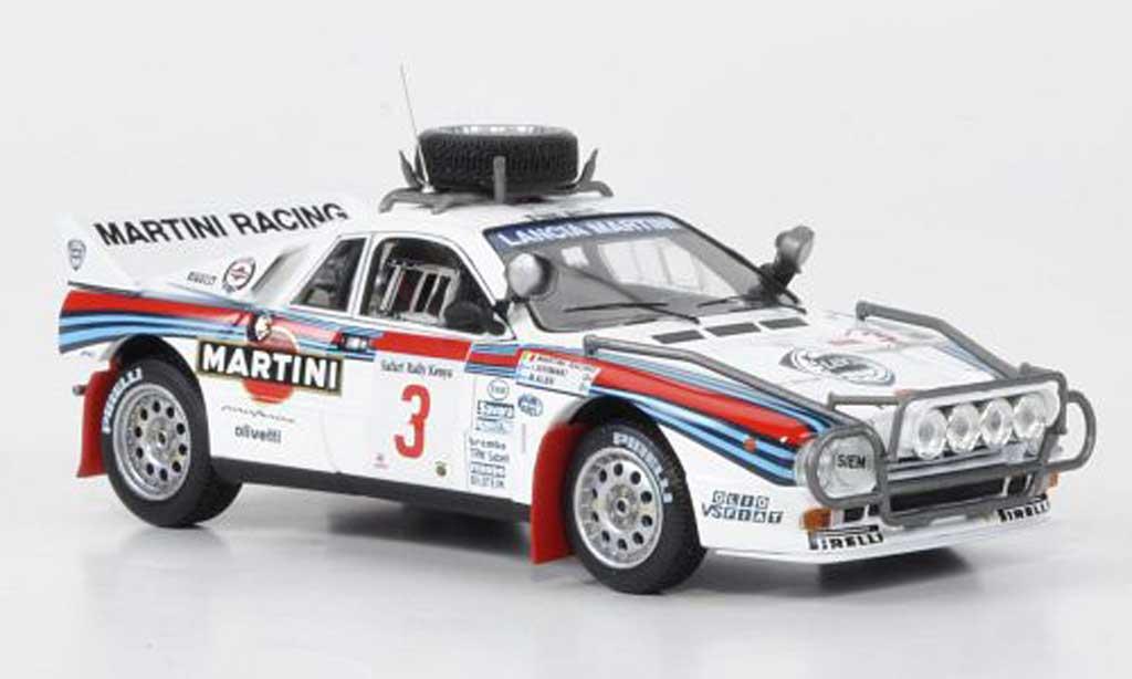 Lancia 037 1/43 HPI Rally No.3 Martini Alen/Kivimaki Safari Rally 1986 miniature