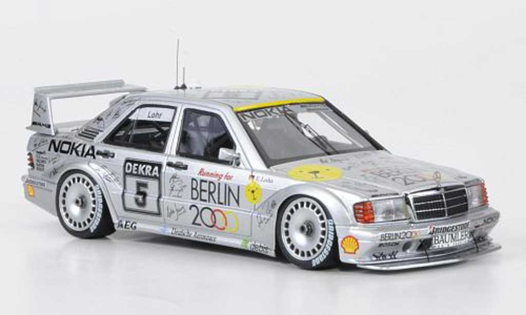 Mercedes 190 E 1/43 HPI 2.5-16 Evo II No.5 Berlin 2000 E.Lohr DTM 1992 miniature