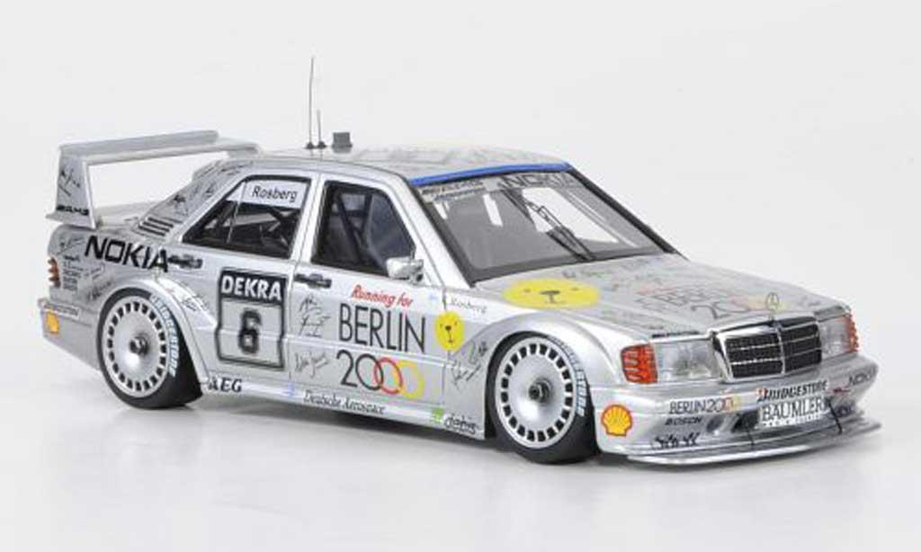 Mercedes 190 E 1/43 HPI 2.5-16 Evo II No.6 Berlin 2000 K.Rosberg DTM 1992 miniature