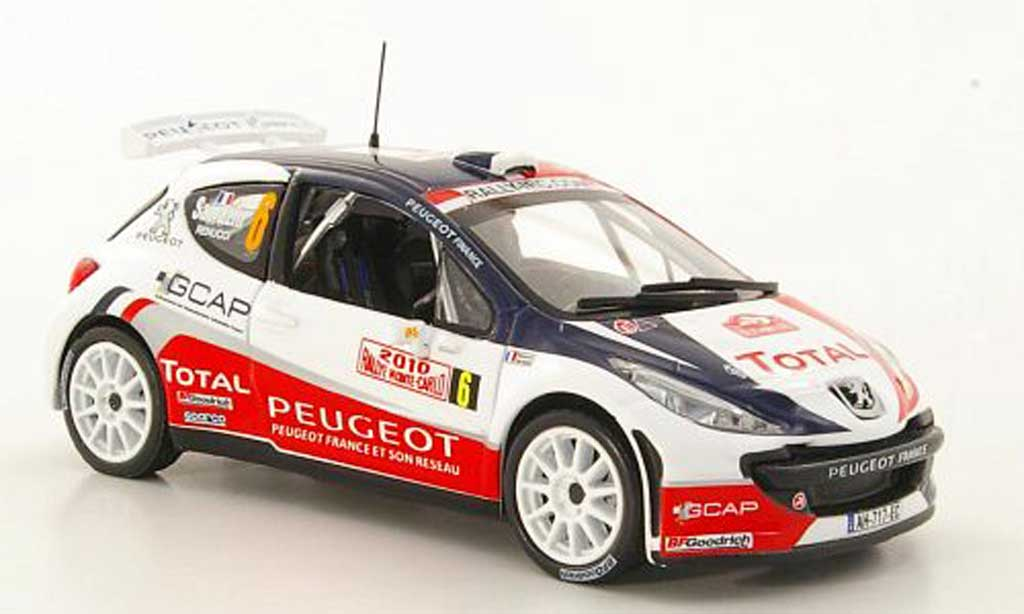 Peugeot 207 S2000 1/43 Hachette No.6 Total S.Sarrazin / J.-J.Renucci Rally Monte Carlo 2010 miniature