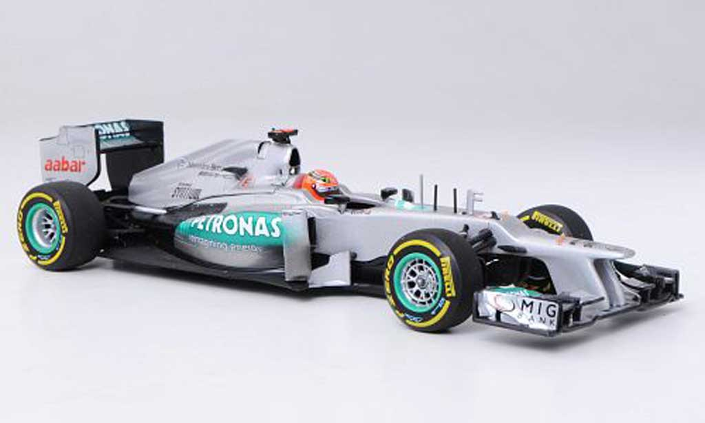 Mercedes F1 2012 1/43 Minichamps AMG Petronas W03 No.7 M.Schumacher -Saison miniature
