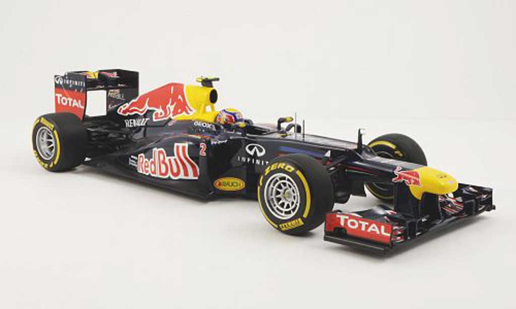 Red Bull F1 2012 1/18 Minichamps Renault RB8 No.2 M.Webber Saison miniature