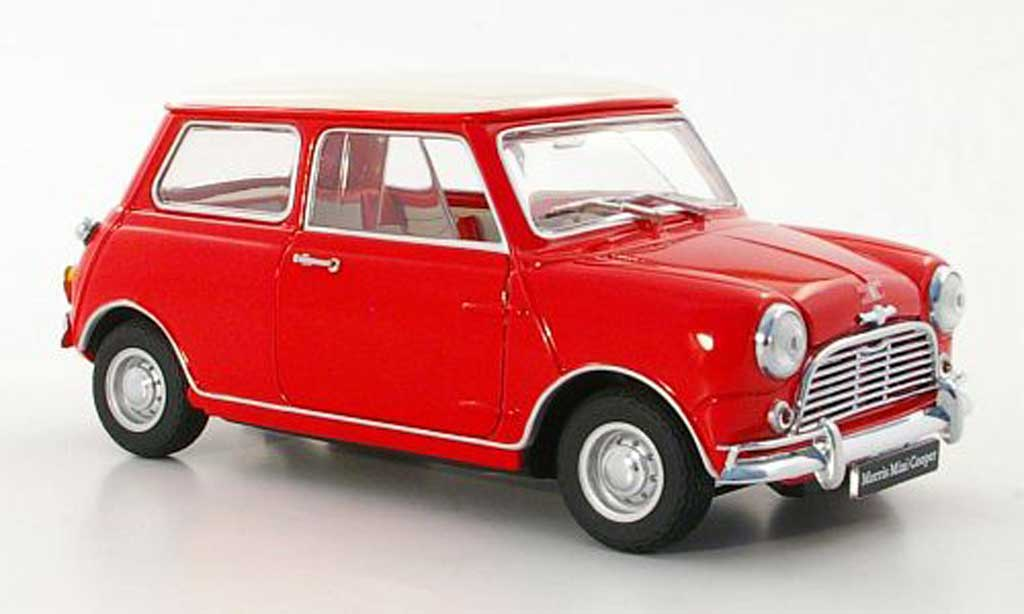 Austin Mini Cooper 1/18 Kyosho MkI 1275S red/white RHD diecast model cars