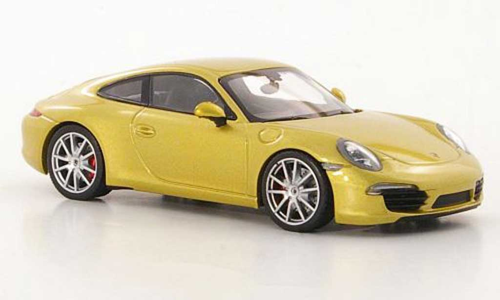 Porsche 991 Carrera S 1/43 Minichamps gold 2011 miniature