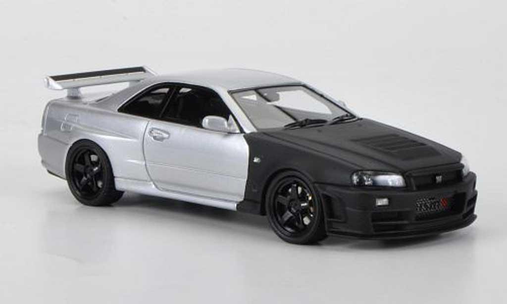 Nissan Skyline R34 1/43 HPI GT-R Z-tune mattnoire/grise Testfahrzeug Suzuka 2004 miniature