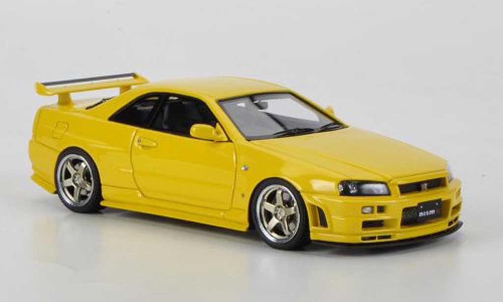 Nissan Skyline R34 1/43 HPI GT-R S-tune jaune RHD miniature
