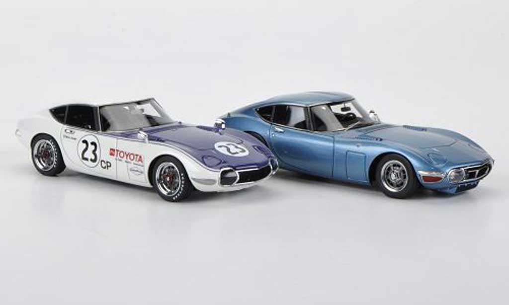 Toyota 2000 GT 1968 1/43 HPI 2000GT-Set: MF12L bleu und No.23 D.Jordan SCCA miniature