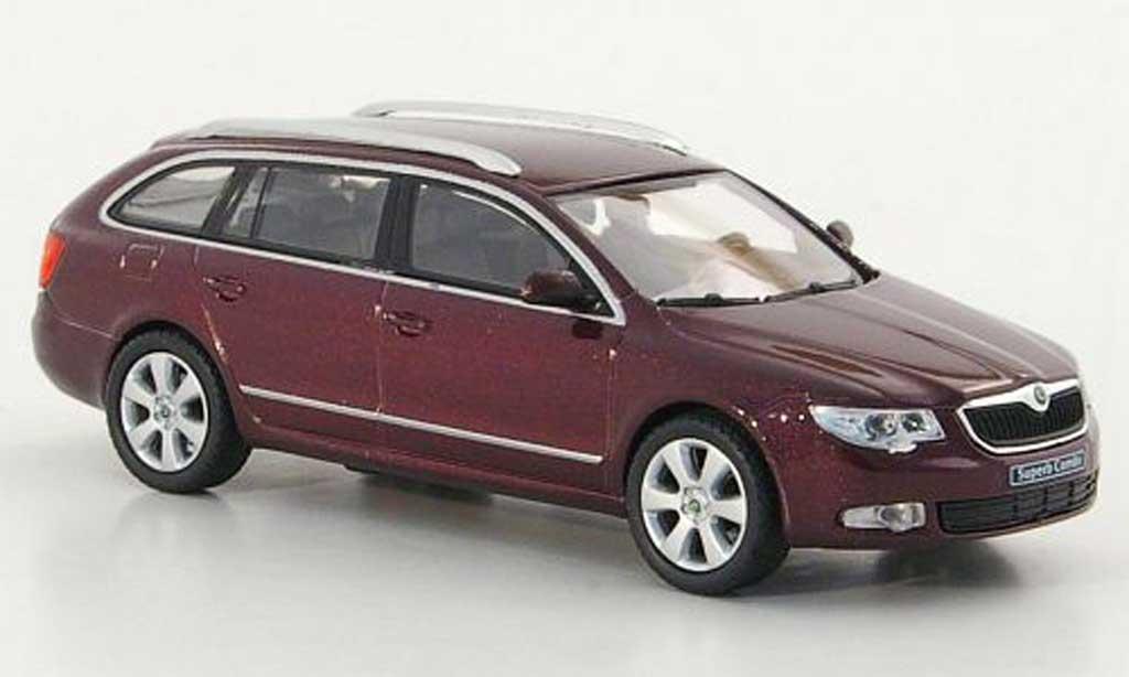 skoda superb 2009 miniature combi rouge abrex 1 43 voiture. Black Bedroom Furniture Sets. Home Design Ideas
