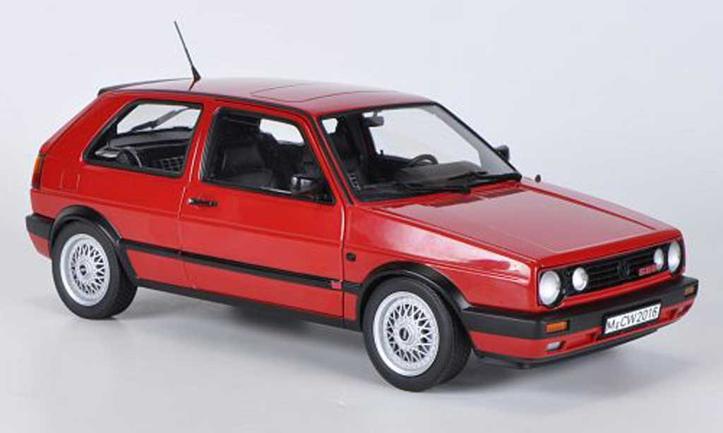 Volkswagen Golf 2 G60 1/18 Norev rouge 1990 miniature