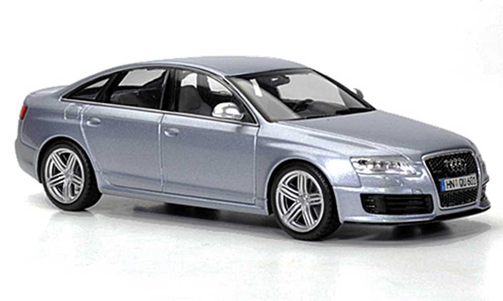 Audi RS6 1/43 Minichamps gris bleu 2008 miniatura