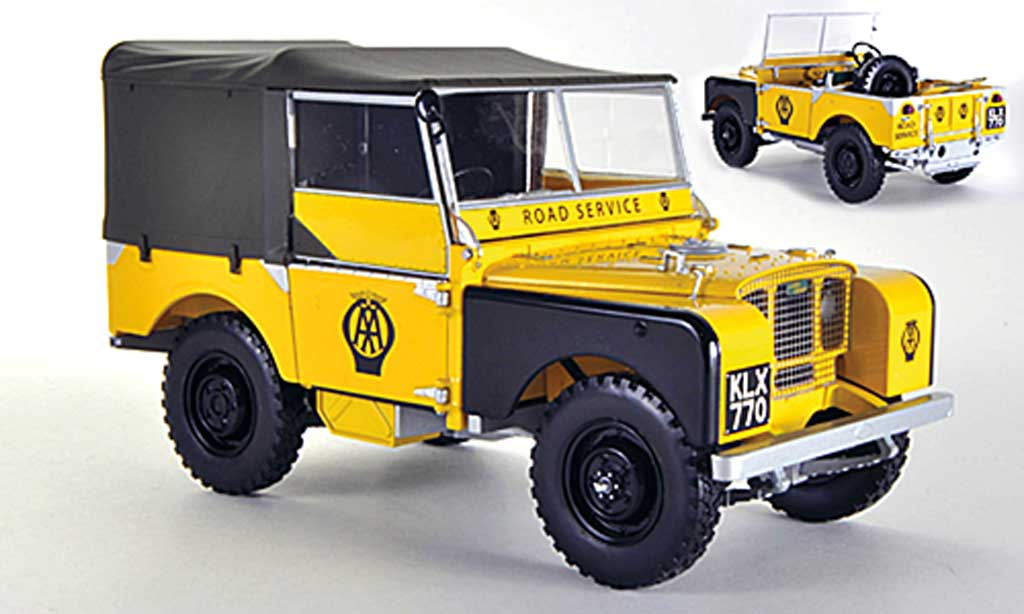 Land Rover Series 1 1/18 Minichamps AA Road Service jaune 1948 miniature