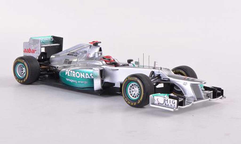 Mercedes F1 2012 1/43 Spark AMG W03 No.7 Petronas M.Schumacher GP Monaco miniature