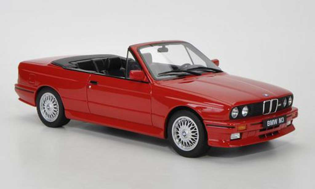Bmw M3 E30 Cabriolet red Ottomobile. Bmw M3 E30 Cabriolet red miniature 1/18