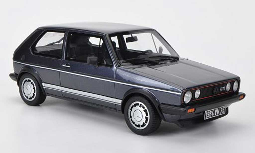 Volkswagen Golf 1 GTI 1/18 Ottomobile 1800 Plus (Pirelli) bleugrise miniature