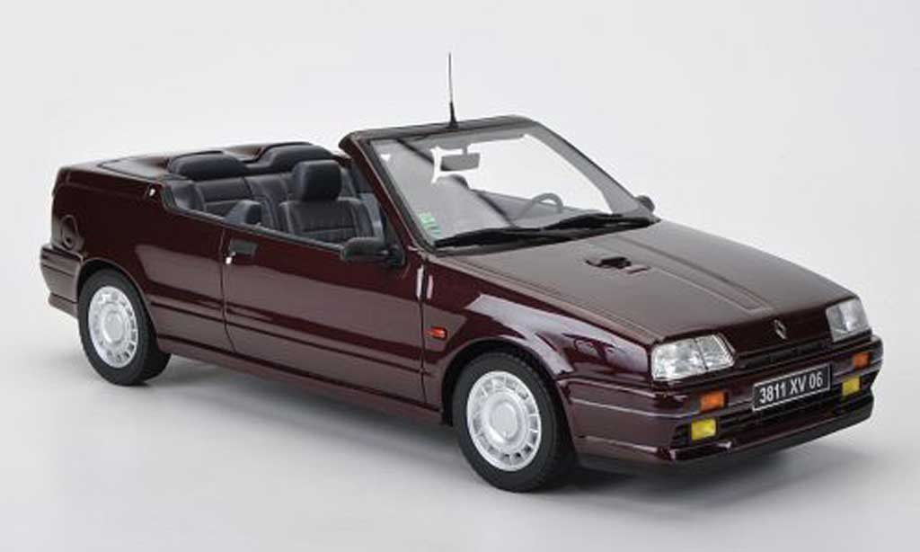 renault 19 16s miniature cabriolet rouge ottomobile 1 18 voiture. Black Bedroom Furniture Sets. Home Design Ideas