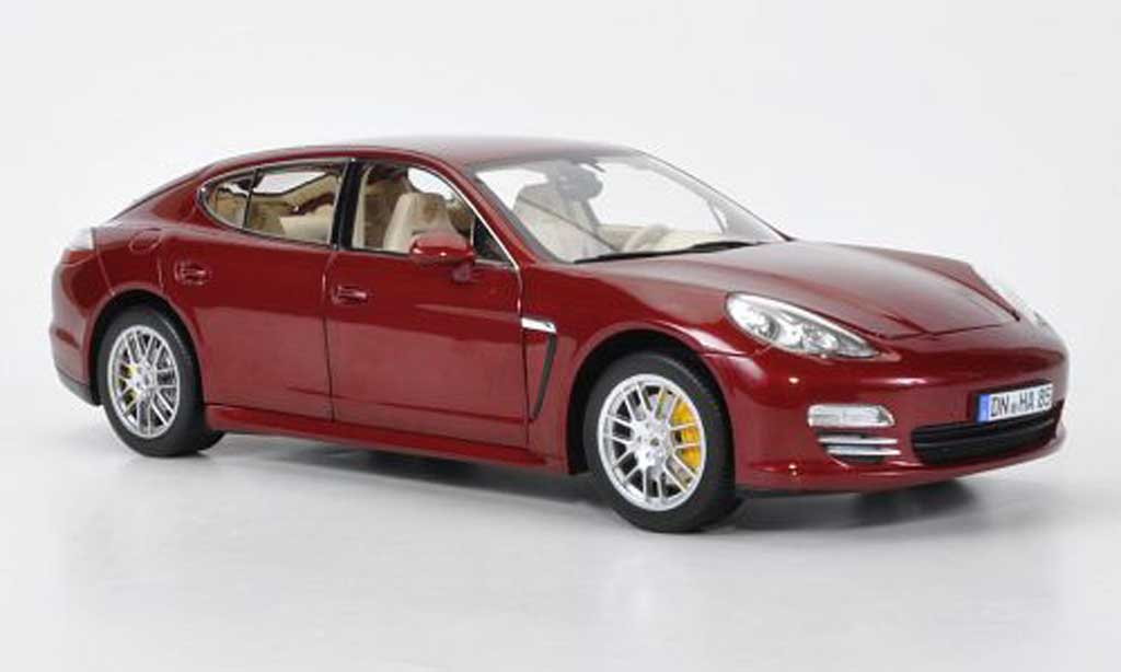 Porsche Panamera 4S 1/18 Norev red 2009 diecast model cars