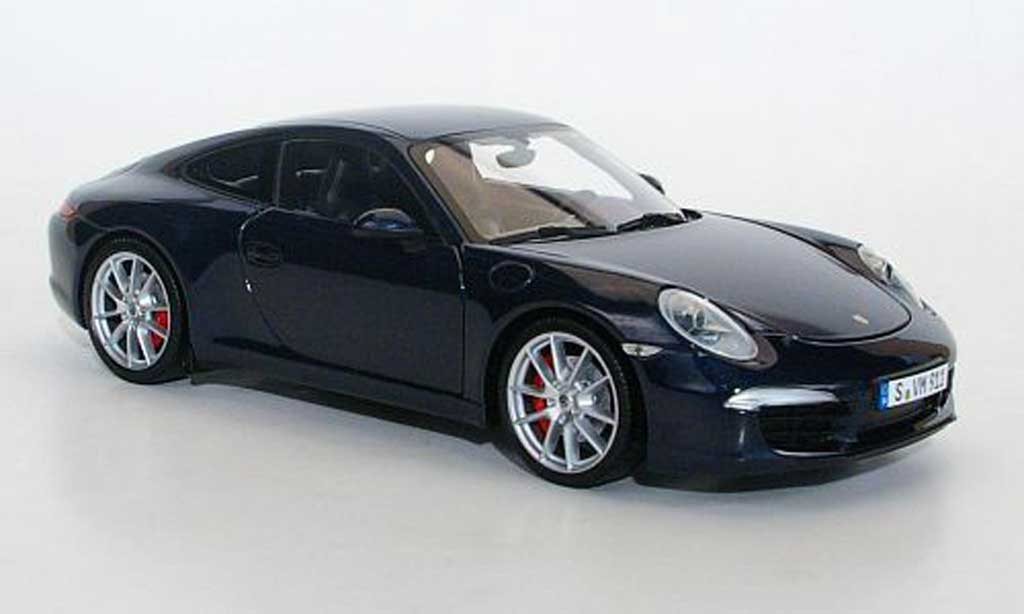 Porsche 991 Carrera S blue 2011 Minichamps. Porsche 991 Carrera S blue 2011 miniature 1/18