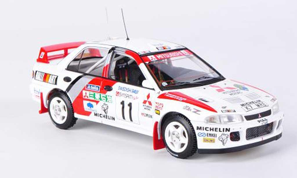 Mitsubishi Lancer Evolution II 1/43 HPI Mirage No.11 T.Makinen / S.Harjanne Rally Schweden 1995 miniature