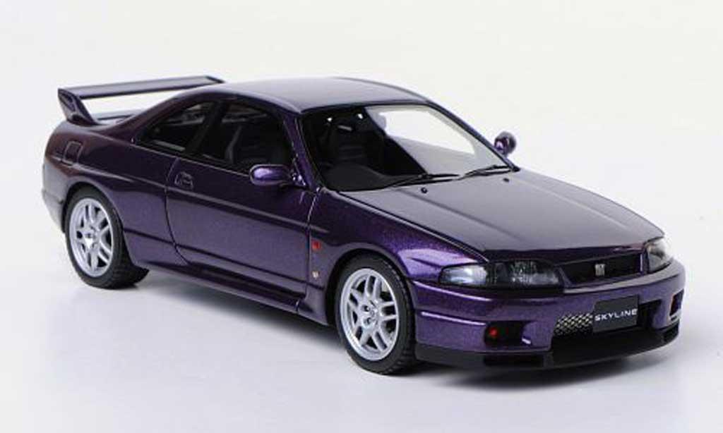 Nissan Skyline R33 1/43 HPI GT-R V-Spec  lila RHD 1995 miniature