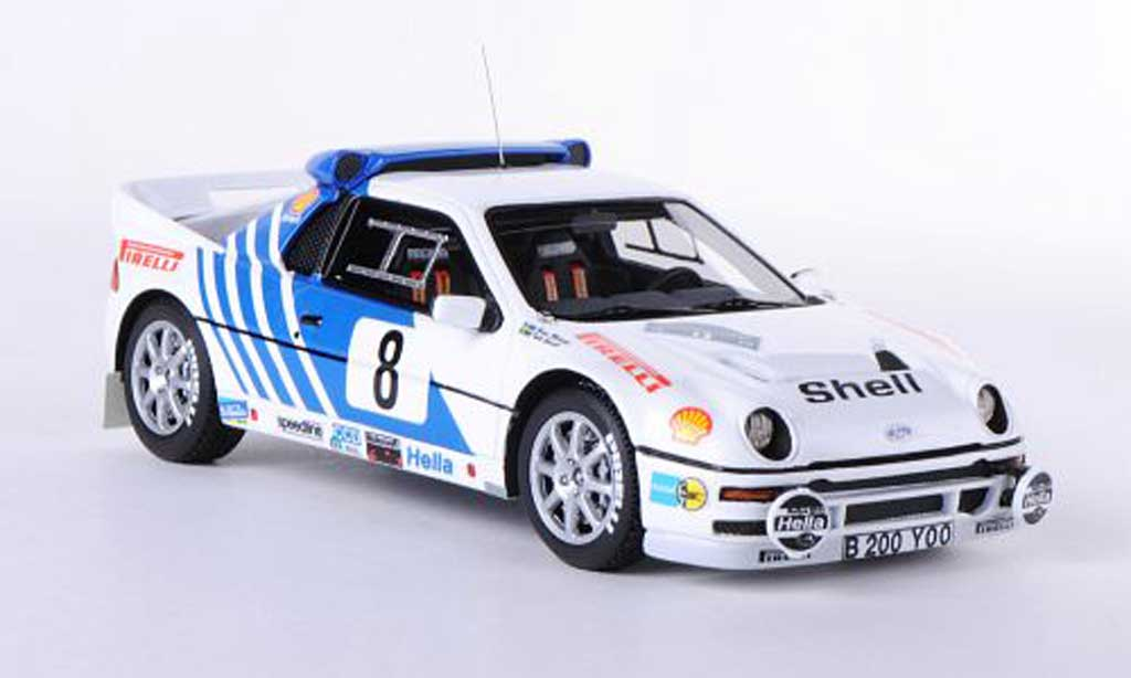 Ford RS 200 1/43 HPI No.8 K.grundel / B.Melander Rally Schweden 1986 miniature