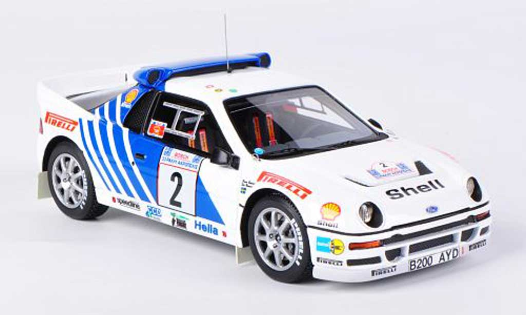 Ford RS 200 1/43 HPI No.2 Pirelli S.Blomqvist / B.Berglund Rally Acropolis 1986 diecast model cars