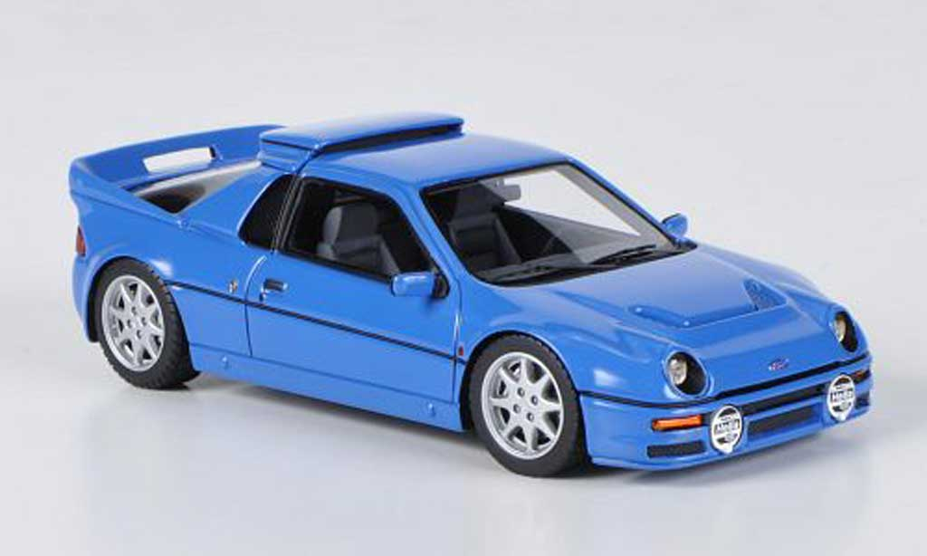 Ford RS 200 1/43 HPI bleu LHD miniature