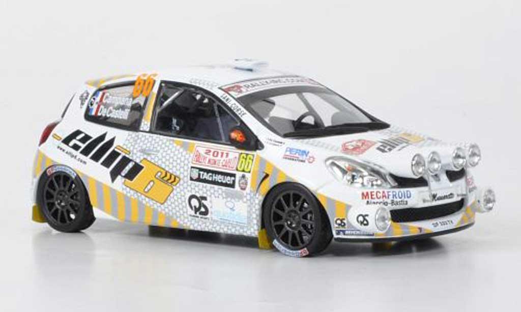 Renault Clio R3 1/43 IXO No.66 elliph Campana/de Castelli Rally Monte Carlo 2011 miniature
