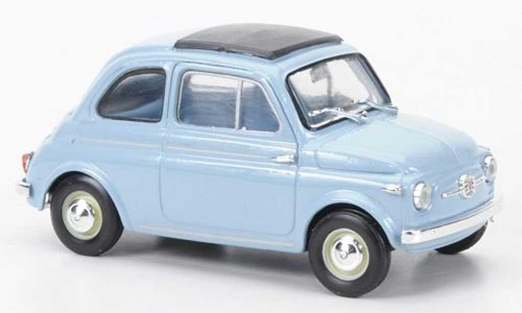 Fiat 500 1/43 Brumm Nuova bleu geschl. Faltdach un2 Figuren 1959 diecast model cars